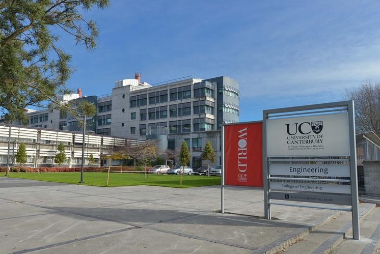 Học bổng du học New Zealand Đại học Canterbury